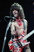 NEW YORK - NY MARCH 31: Eddie Van Halen of Van Halen performs on the 1984 tour at Madison Square Garden on March 31, 1984 in New York City. Photo by Larry Marano © 1984