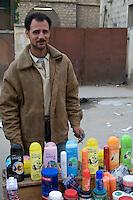 Tripoli, Libya - Toiletries Vendor, Shampoo, Skin Cream