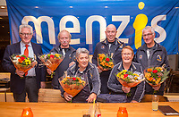 Hilversum, Netherlands, December 3, 2017, Winter Youth Circuit Masters, 12,14,and 16, years, Umpires receiving flowers<br /> Photo: Tennisimages/Henk Koster