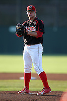 Batavia Muckdogs pitcher Andy Moss (33) delivers a pitch during a game vs. the Lowell Spinners at Dwyer Stadium in Batavia, New York July 16, 2010.   Batavia defeated Lowell 5-4 with a walk off RBI single in the bottom of the 9th inning.  Photo By Mike Janes/Four Seam Images