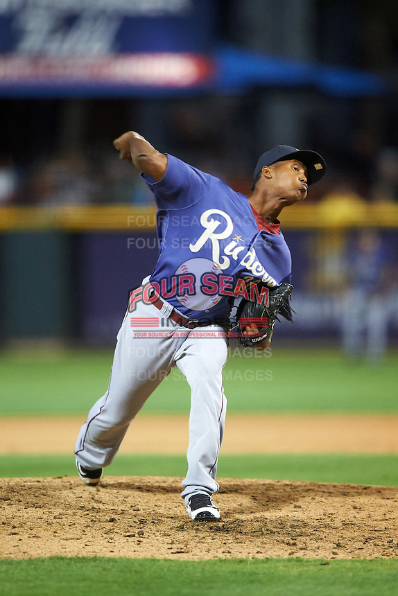 Frisco RoughRiders relief pitcher Jose Leclerc (30) delivers a pitch during a game against the Corpus Christi Hooks on April 23, 2016 at Whataburger Field in Corpus Christi, Texas.  Corpus Christi defeated Frisco 3-2.  (Mike Janes/Four Seam Images)