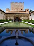 Patio de los Arrayanes, Alhambra, Granada (Stadt), Andalusien, Spanien