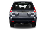 Straight rear view of 2021 Toyota Land-Cruiser-150 Country 5 Door SUV Rear View  stock images
