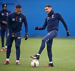 19.02.2020 Rangers training: Alfredo Morelos and James Tavernier