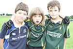 Eoin Halpin, Cathal Quinn and Shane Foley at the Summer Camp in Boyne Rugby Football Club...Picture Jenny Matthews/Newsfile.ie