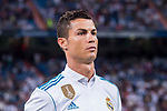Cristiano Ronaldo of Real Madrid prior to the La Liga 2017-18 match between Real Madrid and Valencia CF at the Estadio Santiago Bernabeu on 27 August 2017 in Madrid, Spain. Photo by Diego Gonzalez / Power Sport Images