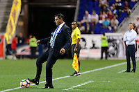 Harrison, NJ - Wednesday Aug. 03, 2016: Mauricio Tapia during a CONCACAF Champions League match between the New York Red Bulls and Antigua at Red Bull Arena.