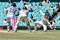 11th January 2021; Sydney Cricket Ground, Sydney, New South Wales, Australia; International Test Cricket, Third Test Day Five, Australia versus India; Marnus Labuschagne of Australia dives to catch the ball