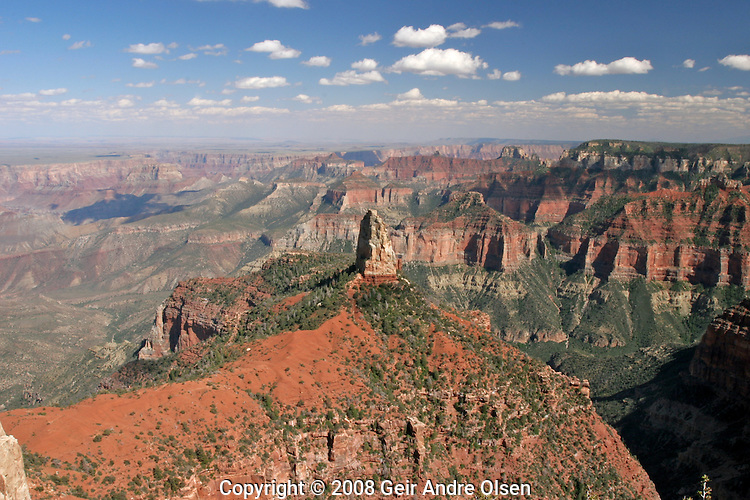 Point Imerial view at Grand Canyon national park, North Rim, Utah