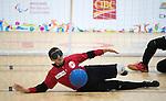 Ahmad Zeividavi, Toronto 2015 - Goalball.<br /> Canada's men's Goalball team plays against USA in the semi finals // L'équipe masculin de goalball du Canada joue contre les États-Unis en demi-finale. 14/08/2015.