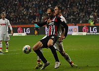 Bas Dost (Eintracht Frankfurt) gegen Rafael Czichos (1. FC Koeln) - 18.12.2019: Eintracht Frankfurt vs. 1. FC Koeln, Commerzbank Arena, 16. Spieltag<br /> DISCLAIMER: DFL regulations prohibit any use of photographs as image sequences and/or quasi-video.
