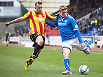 St Johnstone v Partick Thistle...29.03.14    SPFL<br /> David Wotherspoon and Christie Elliott<br /> Picture by Graeme Hart.<br /> Copyright Perthshire Picture Agency<br /> Tel: 01738 623350  Mobile: 07990 594431
