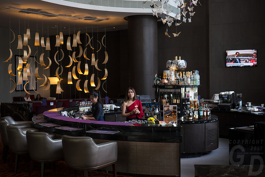 Lobby Bar at the Radisson Blu Hotel in Bangkok, Thailand