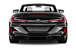 Straight rear view of 2021 BMW M8 M8-Competition 2 Door Coupe Rear View  stock images