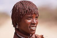hamer girl ( first wife) in Ethiopia