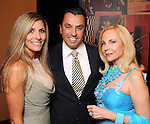 From left: Gina and Dr. Devinder Bhatia with Carolyn Farb at the San Jose Clinic Art with Heart Gala at the InterContinental Hotel Saturday May 15,2010.  (Dave Rossman Photo)
