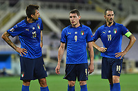 Francesco Acerbi of Italy , Andrea Belotti of Italy ,Leonardo Bonucci of Italy during the Uefa Nation League Group Stage A1 football match between Italy and Bosnia at Artemio Franchi Stadium in Firenze (Italy), September, 4, 2020. Photo Massimo Insabato / Insidefoto