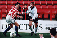 Kelly Smith of England during England Women vs Croatia Women, European Championships Qualifier Football at The Valley, Charlton Athletic FC on 19th November 1995