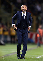 Calcio, Serie A: Bologna, stadio Renato Dall'Ara, 19 settembre 2017.<br /> Inter Milan's Luciano Spalletti speaks to his players during the Italian Serie A football match between Bologna and Inter Milan at Bologna's Renato Dall'Ara stadium, September 19, 2017.<br /> UPDATE IMAGES PRESS/Isabella Bonotto