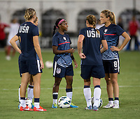 Crystal Dunn, Kristie Mewis. The USWNT defeated Mexico, 7-0, during an international friendly at RFK Stadium in Washington, DC.  The USWNT defeated Mexico, 7-0.
