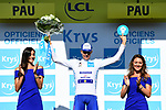 Enric Mas (ESP) Deceuninck-Quick Step takes over the young riders White Jersey at the end of Stage 13 of the 2019 Tour de France an individual time trial running 27.2km from Pau to Pau, France. 19th July 2019.<br /> Picture: ASO/Alex Broadway | Cyclefile<br /> All photos usage must carry mandatory copyright credit (© Cyclefile | ASO/Alex Broadway)