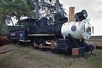 Cuba, Cienfuegos.  Old Locomotive, formerly used to haul sugar cane.  Made in Philadelphia, USA, 1884, by Baldwin Locomotive Works.