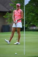 16th July 2021, Midland, MI, USA;  Lexi Thompson (USA) barely misses her birdie putt on 1 during the Dow Great Lakes Bay Invitational Rd3 at Midland Country Club on July 16, 2021 in Midland, Michigan.
