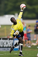 Colorado Rapids' goalkeeper Bouna Coundoul during the Hall of Fame Game after the National Soccer Hall of Fame induction ceremony. Wright Soccer Campus, Oneonta, NY, on August  29, 2005.
