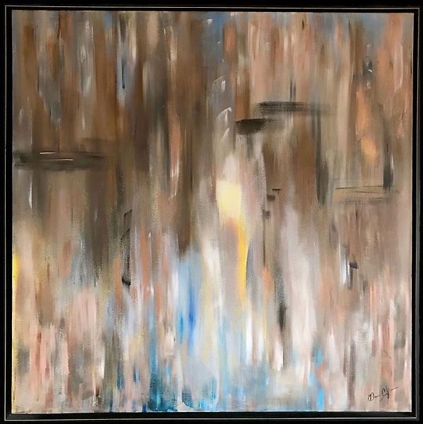 """36""""x36"""" Acrylic on Canvas"""