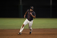 AZL Giants Black left fielder Franklin Labour (49) hustles to third base during an Arizona League game against the AZL Athletics at the San Francisco Giants Training Complex on June 19, 2018 in Scottsdale, Arizona. AZL Athletics defeated AZL Giants Black 8-3. (Zachary Lucy/Four Seam Images)