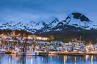 Small boat harbor of the commercial fishing community of Cordova, in southcentral, Alaska