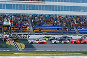 NASCAR XFINITY Series<br /> American Ethanol E15 250 presented by Enogen<br /> Iowa Speedway, Newton, IA USA<br /> Saturday 24 June 2017<br /> Christopher Bell, ToyotaCare Toyota Camry and Kyle Benjamin, SportClips Toyota Camry green flag start<br /> World Copyright: Russell LaBounty<br /> LAT Images