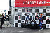 #12: Will Power, Team Penske Chevrolet, #10: Alex Palou, Chip Ganassi Racing Honda, #9: Scott Dixon, Chip Ganassi Racing Honda, #9: Scott Dixon, Chip Ganassi Racing Honda, podium, champagne