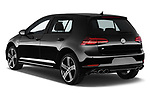 Car pictures of rear three quarter view of a 2017 Volkswagen Golf R 5 Door Hatchback angular rear