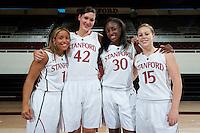 STANFORD, CA-OCTOBER 13, 2011- Stanford Cardinal Women's Basketball Team headshots.