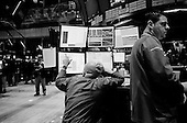 New York, New York.USA.March 06, 2009..The floor of the New York Stock Exchange the day that the market moved slightly up and would begin a several day rise the in markets.