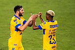 Andre-Pierre Gignac of Tigres UANL (MEX) celebrates after scoring a goal against CD Olimpia (HON) during their CONCACAF Champions League Semi Finals match at the Orlando's Exploria Stadium on 19 December 2020, in Florida, USA. Photo by Victor Fraile / Power Sport Images