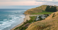 Dawn on Kairakau Beach settlement, Hawke's Bay, East Coast, North Island, New Zealand, NZ