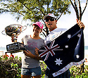 Stephanie Gilmore and Mick Fanning Surfing World Champion 2007 on the North Shore in Hawaii