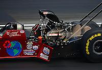 Jun. 16, 2012; Bristol, TN, USA: NHRA top fuel dragster driver Scott Palmer during qualifying for the Thunder Valley Nationals at Bristol Dragway. Mandatory Credit: Mark J. Rebilas-