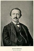 Europa, Deutschland, Mecklenburg-Vorpommern, Neubukow, Heinrich Schliemann, deutscher Kaufmann und Archäologe, Foto, gedruckt 1898
