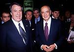 GIORGIO NAPOLITANO CON FERDINANDO MASONE   TEATRO SISTINA FESTA CARABINIERI 1996