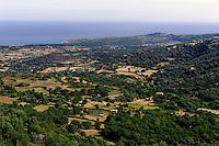 Blick vom Kloster Marcasso in der Balagne, Korsika, Frankreich