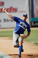 May 28 2009: Kendy Batista of the Inland Empire 66'ers before game against the Modesto Nuts at Arrowhead Credit Union Park in San Bernardino,CA.  Photo by Larry Goren/Four Seam Images