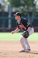 Kavin Keyes #3 of the Oregon State Beavers during a game against the Southern California Trojans at Dedeaux Field on May 23, 2014 in Los Angeles, California. Southern California defeated Oregon State, 4-2. (Larry Goren/Four Seam Images)