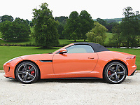 Pictured: One of the luxury cars purchased by Keith Morgan, a Jaguar F-Type Convertible, worth in excess of £55,000. <br /> Re: Conman Keith Morgan has been jailed for 8 and a half years at Cardiff Crown Court. He had claimed that he was one of the world's wealthiest men but instead he was living on benefits in rented accommodation in Pontypridd.