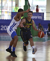 BARRANQUILLA - COLOMBIA, 03-08-2018: Puerto Rico y Colombia en partido categoría Baloncesto masculino por la medalla de oro y plata como parte de los Juegos Centroamericanos y del Caribe Barranquilla 2018. /  Puerto Rico and Colombia in match of men's basketball category for the gold and silver medal as part of the Central American and Caribbean Sports Games Barranquilla 2018. Photo: VizzorImage /  Cont