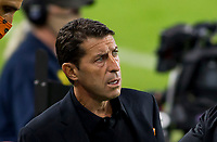CARSON, CA - OCTOBER 28: Tab Ramos head coach of the Houston Dynamo during a game between Houston Dynamo and Los Angeles FC at Banc of California Stadium on October 28, 2020 in Carson, California.