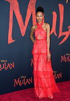 """LOS ANGELES, CA: 09, 2020: Fola Evans Akingbola at the world premiere of Disney's """"Mulan"""" at the El Capitan Theatre.<br /> Picture: Paul Smith/Featureflash"""
