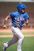 Texas Rangers Luis Mendez (68) during an Instructional League game against the Cincinnati Reds on October 4, 2016 at the Surprise Stadium Complex in Surprise, Arizona.  (Mike Janes/Four Seam Images)